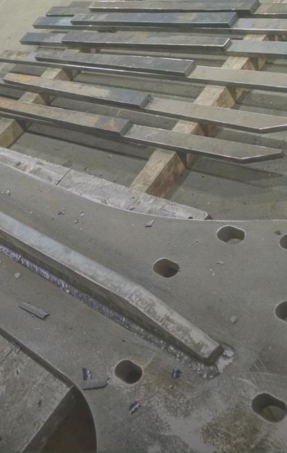 The EW&F shop floor during a heavy fabrication job